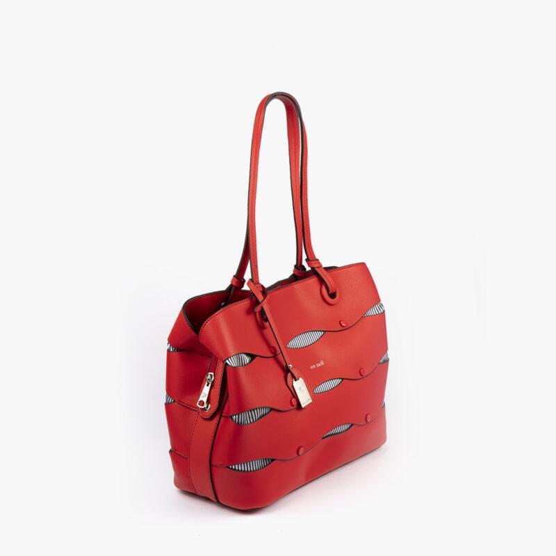 bolso de hombro en color rojo pepemoll 24122 perfil