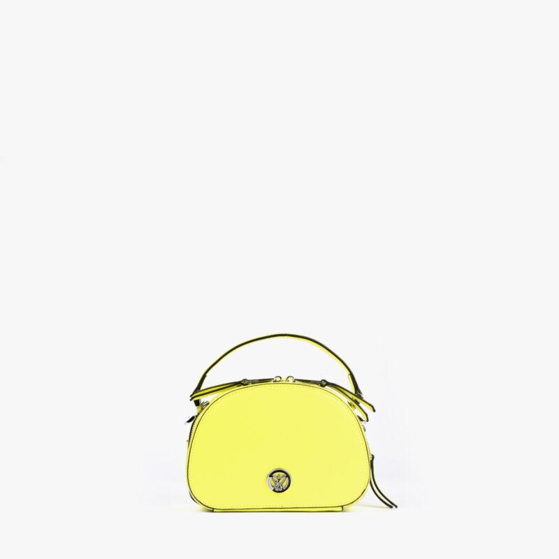 bolso de mano con tono fluorescente e color lima 29118 frontal