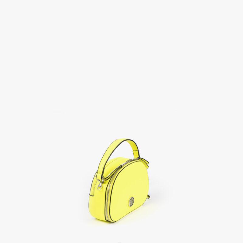 bolso de mano con tono fluorescente e color lima 29118 perfil
