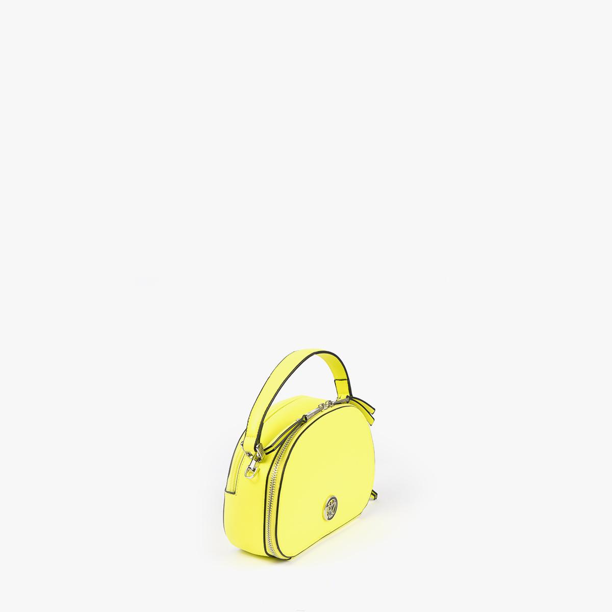 bolso de mano con tono fluorescente e color lima 29118