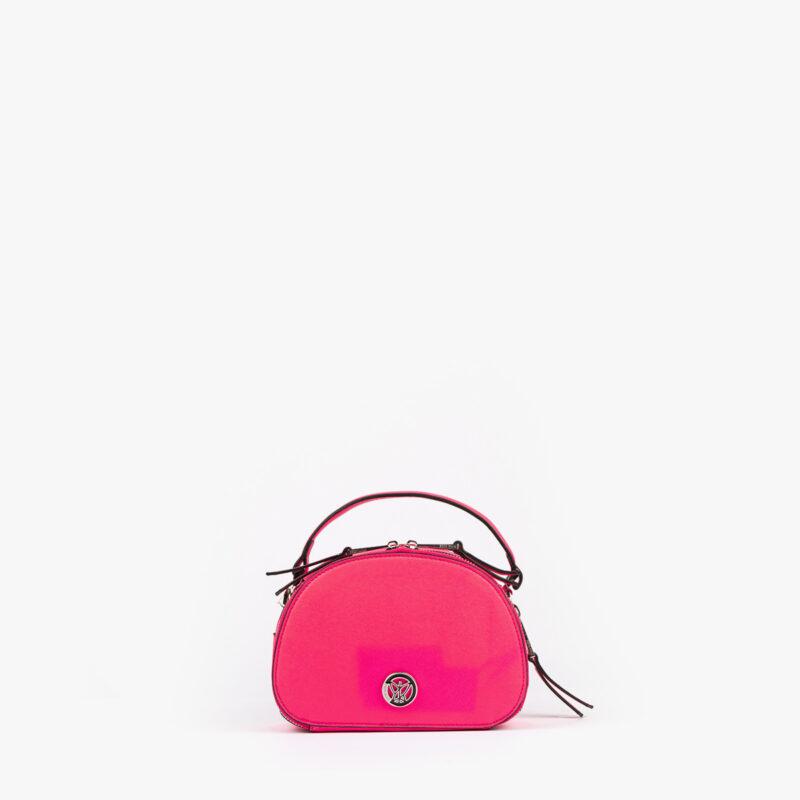bolso de mano con tono fluorescente en color rosa 29118 frontal