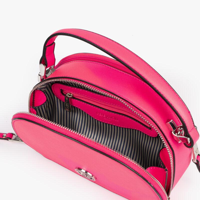 bolso de mano con tono fluorescente en color rosa 29118 interior