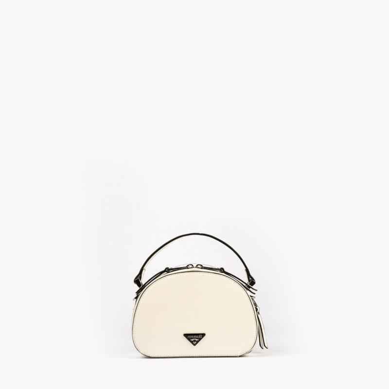 bolso de mano con tono fluorescente en color blanco 29118 frontal