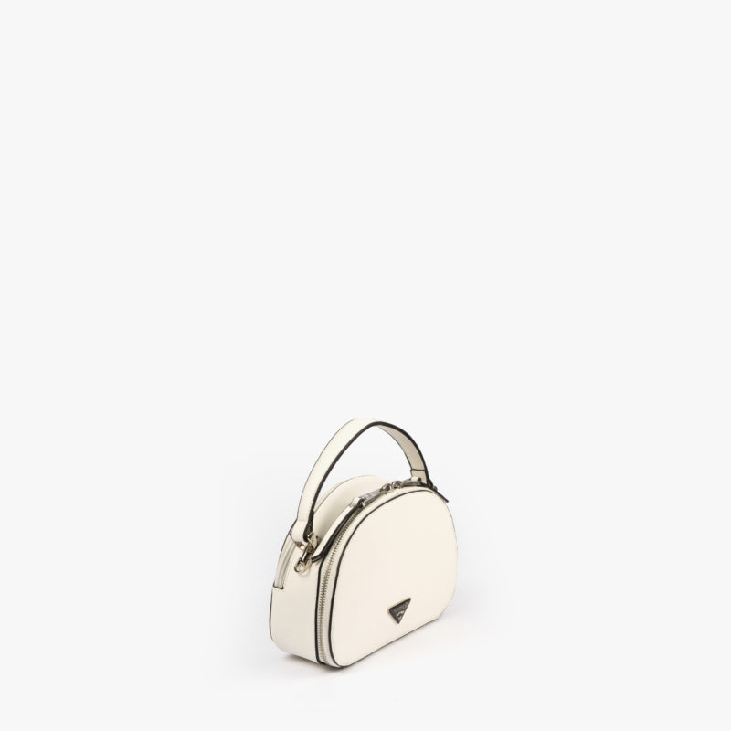 bolso de mano con tono fluorescente en color blanco 29118 perfil