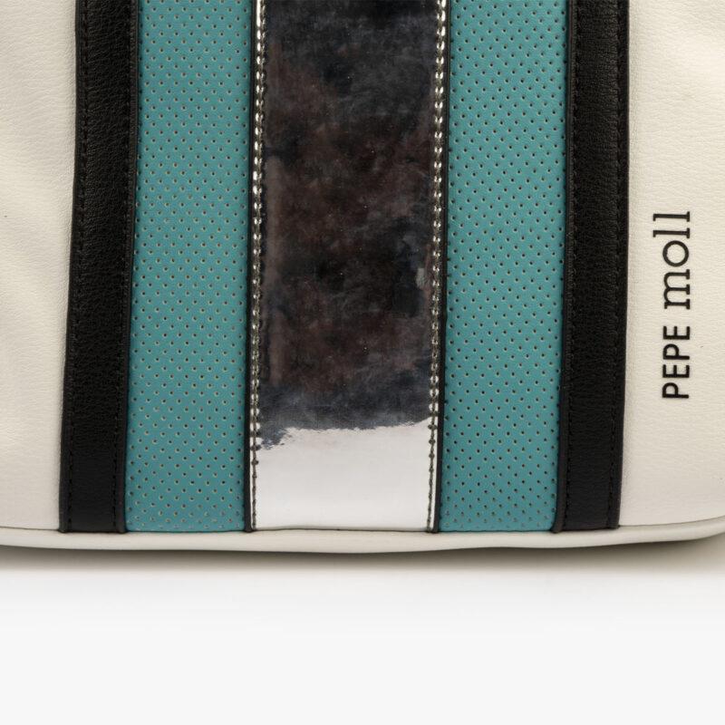 bolso mochila blanco y azul 34126 pepemoll detalle