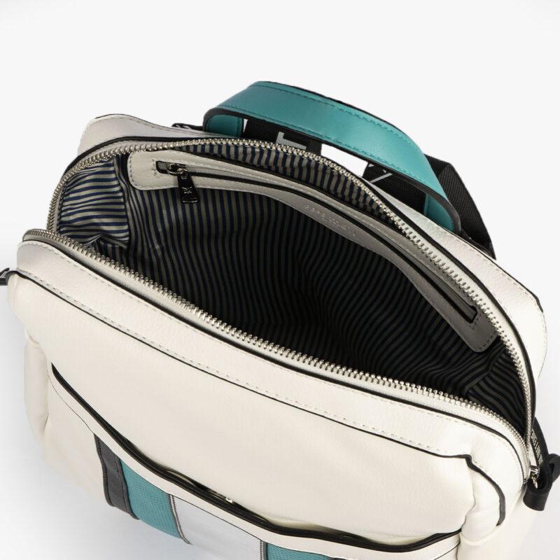 bolso mochila blanco y azul 34126 pepemoll interior