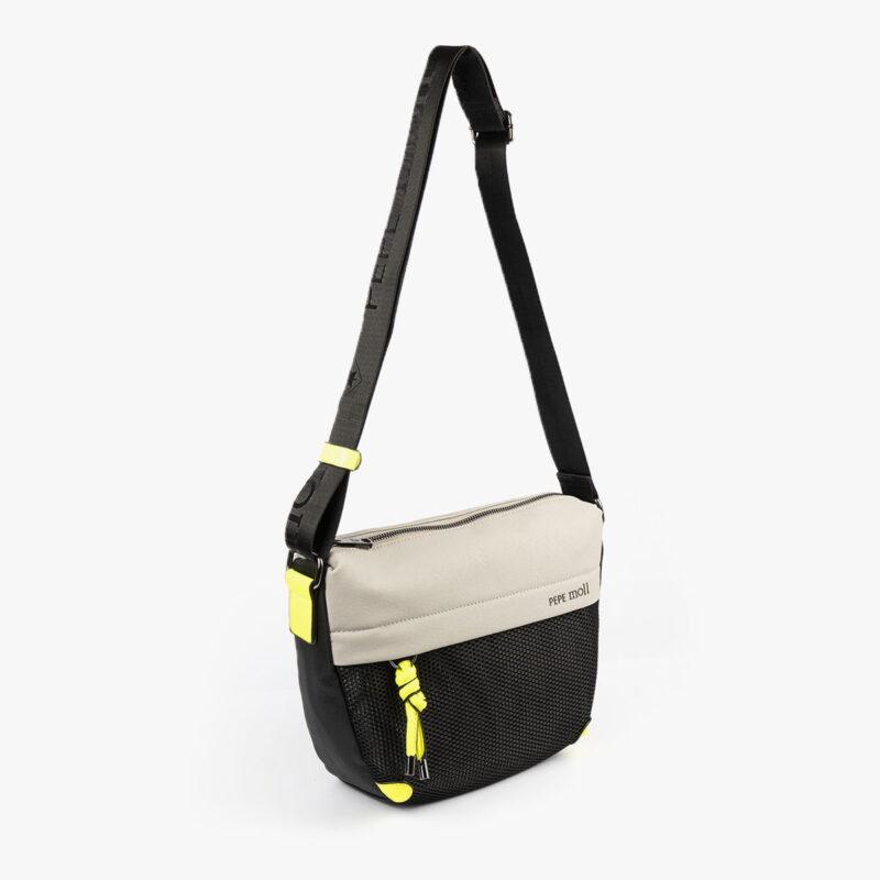 bolso de hombro 35120 negro con detalles verdes pepemoll negroperfil