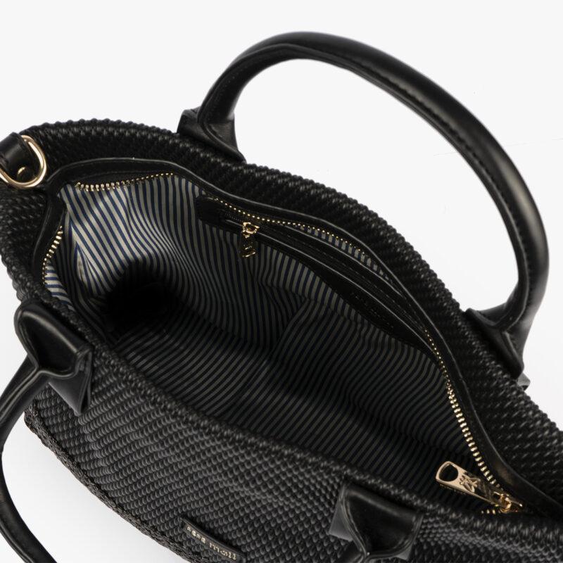 bolso de mano negro 36129 interior