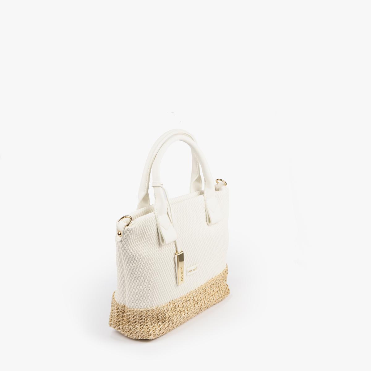 bolso de mano blanco 36129
