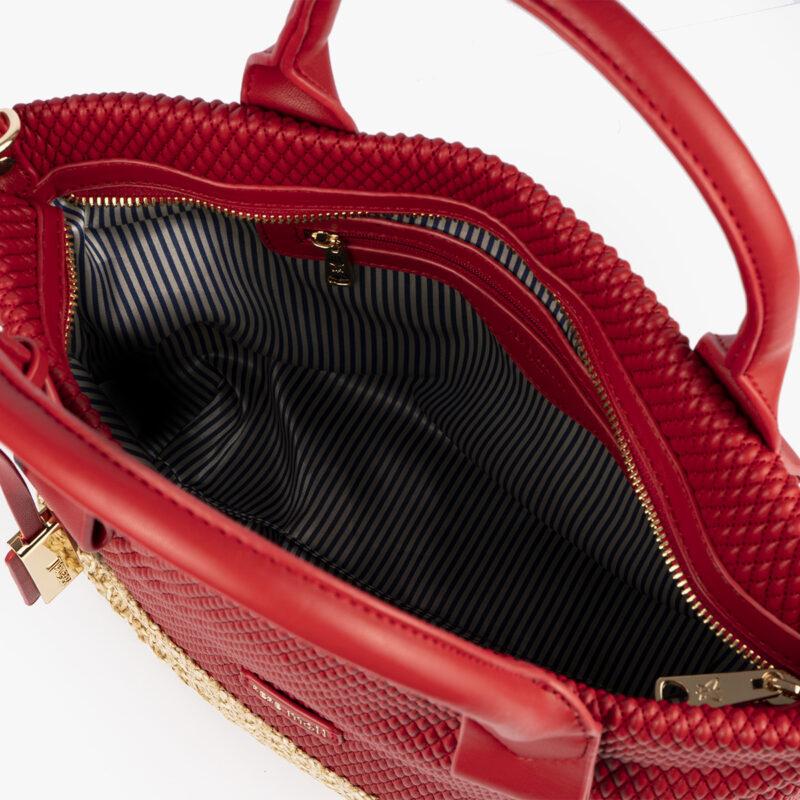 bolso de mano rojo 36129 interior
