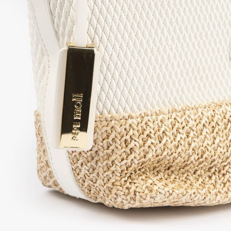 bolso de hombro blanco 36130 detalle