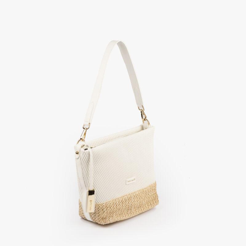 bolso de hombro blanco 36130 perfil