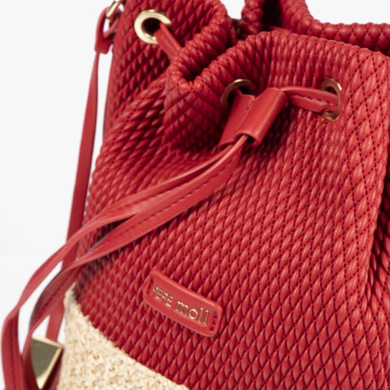 bolso de hombro rojo 36130 detalle