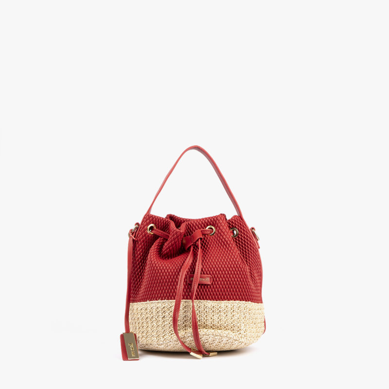 bolso mochila rojo 36131 frontal