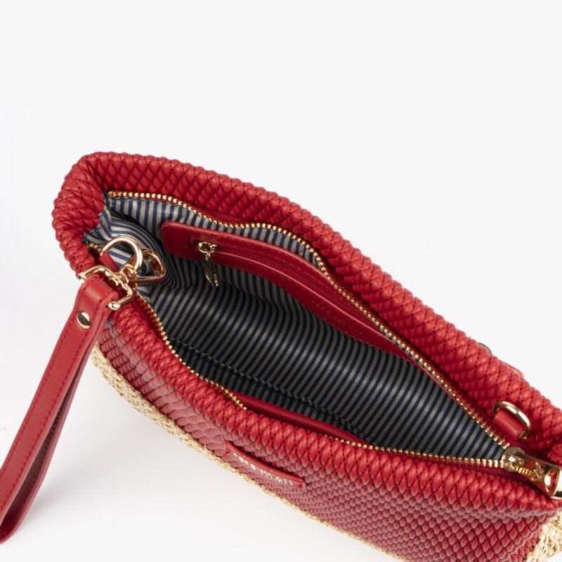 bolso de mano rojo 36132 interior
