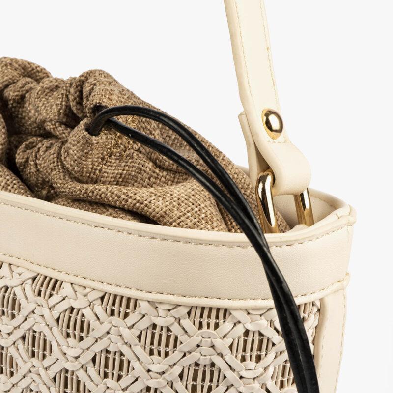bolso bandolera pepemoll 37104 malla blanco detalle