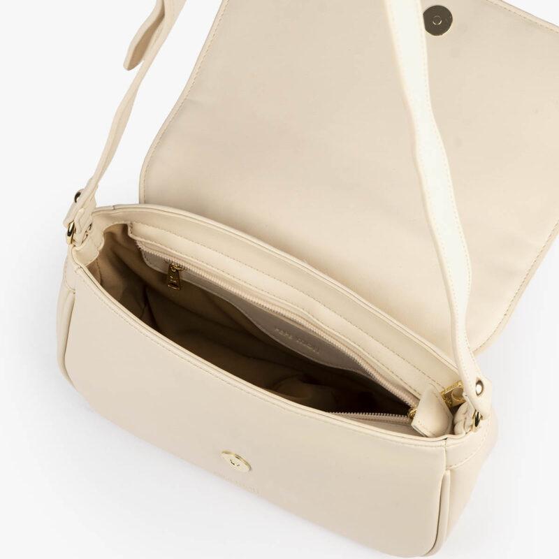 bolso bandolera pepemoll 37105 malla blanco interior