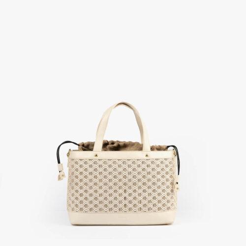 bolso de mano malla blanco pepemoll 37106
