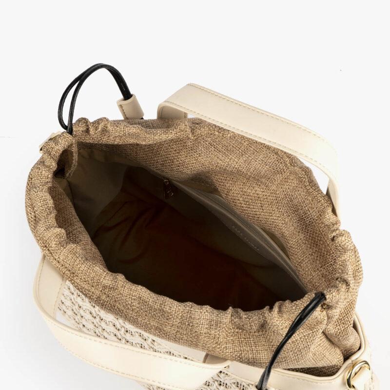 bolso de mano malla blanco pepemoll 37106 interior