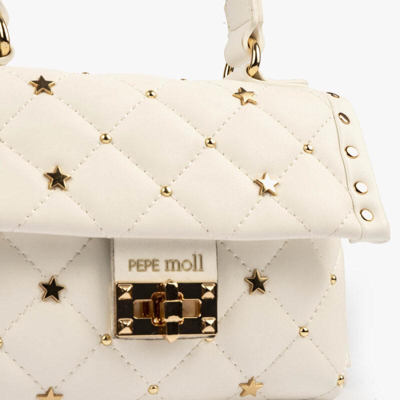 bolso de mano blanco pepemoll 42123 detalle