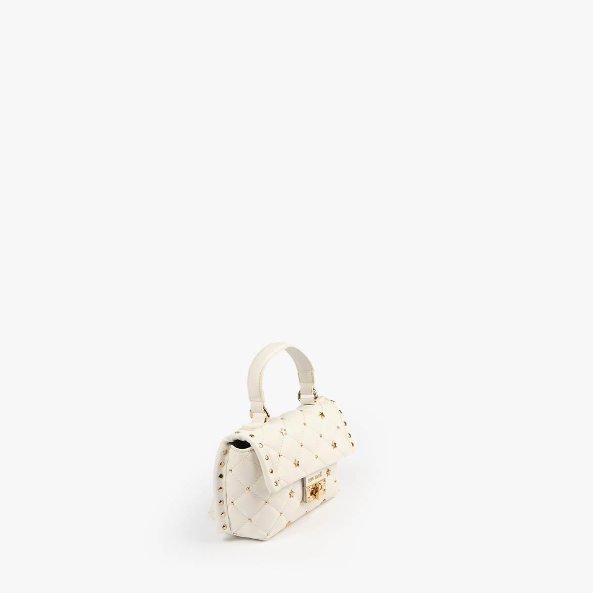 bolso de mano blanco pepemoll 42123