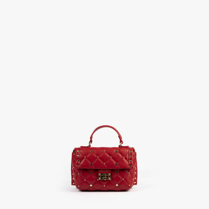 bolso de mano rojo pepemoll 42123 detalle frontal