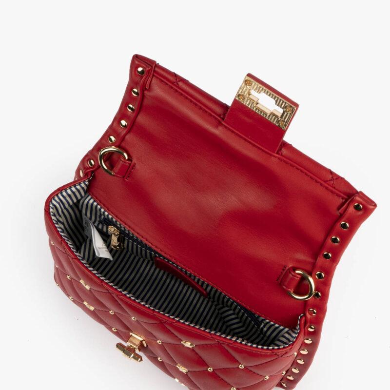 bolso de mano rojo pepemoll 42123 detalle interior