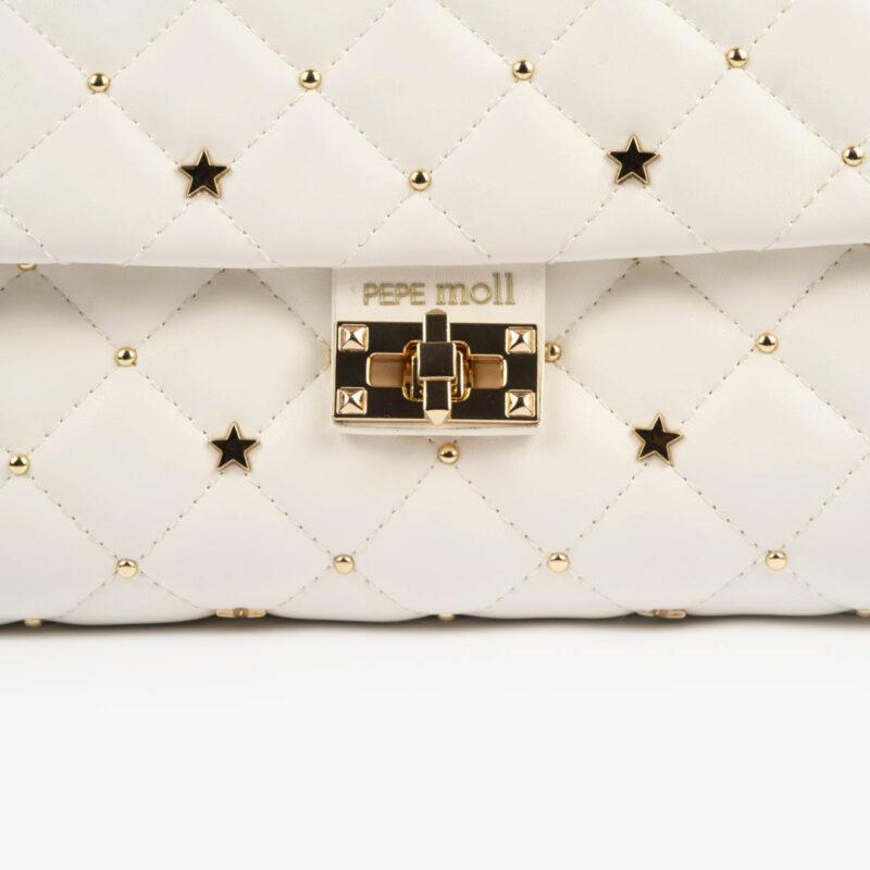 bolso bandolera blanco pepemoll 42124 detalle