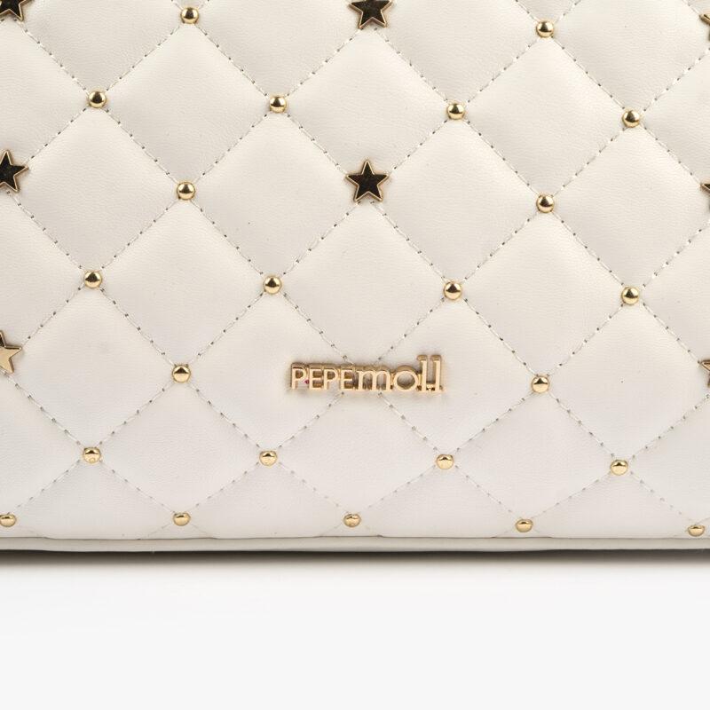 bolso de mano blanco pepemoll 42125 detalle