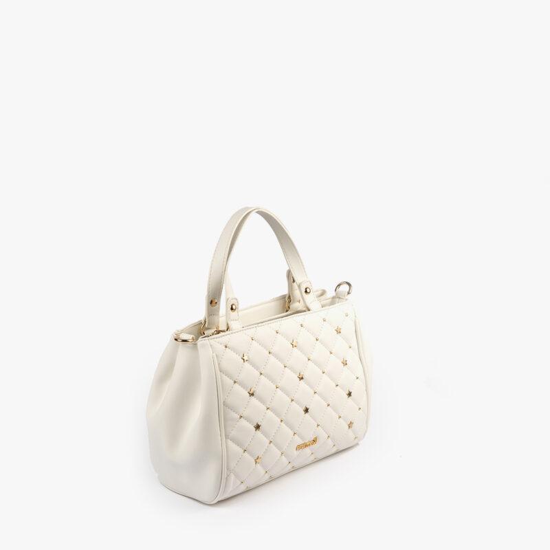 bolso de mano blanco pepemoll 42125 perfil