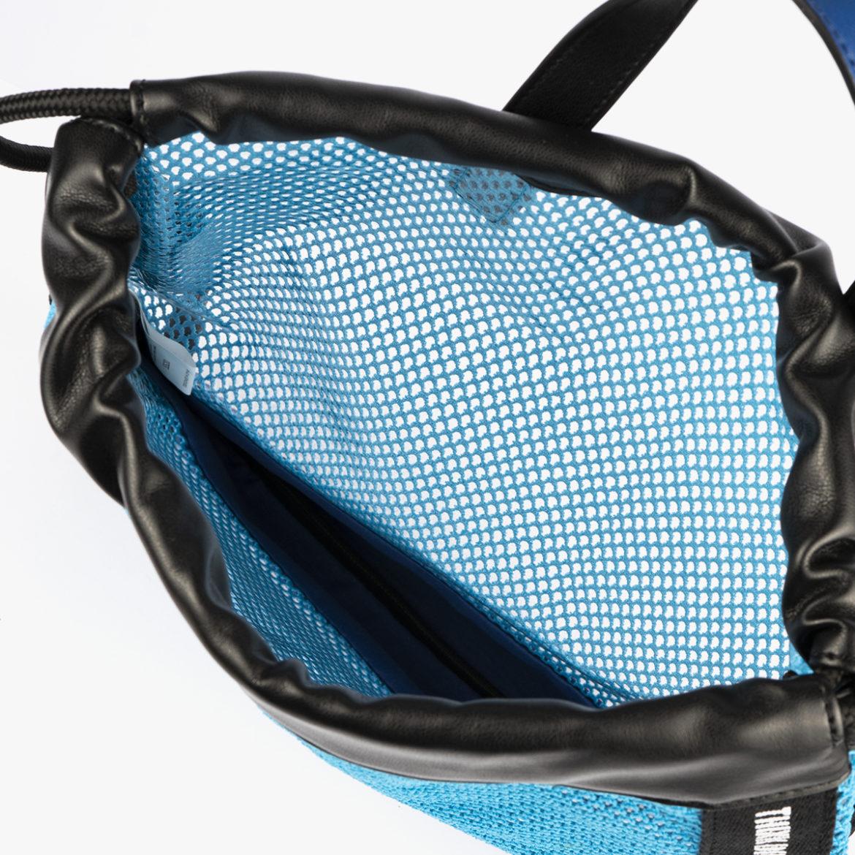 bolso mochila de malla azul pepemoll 51151