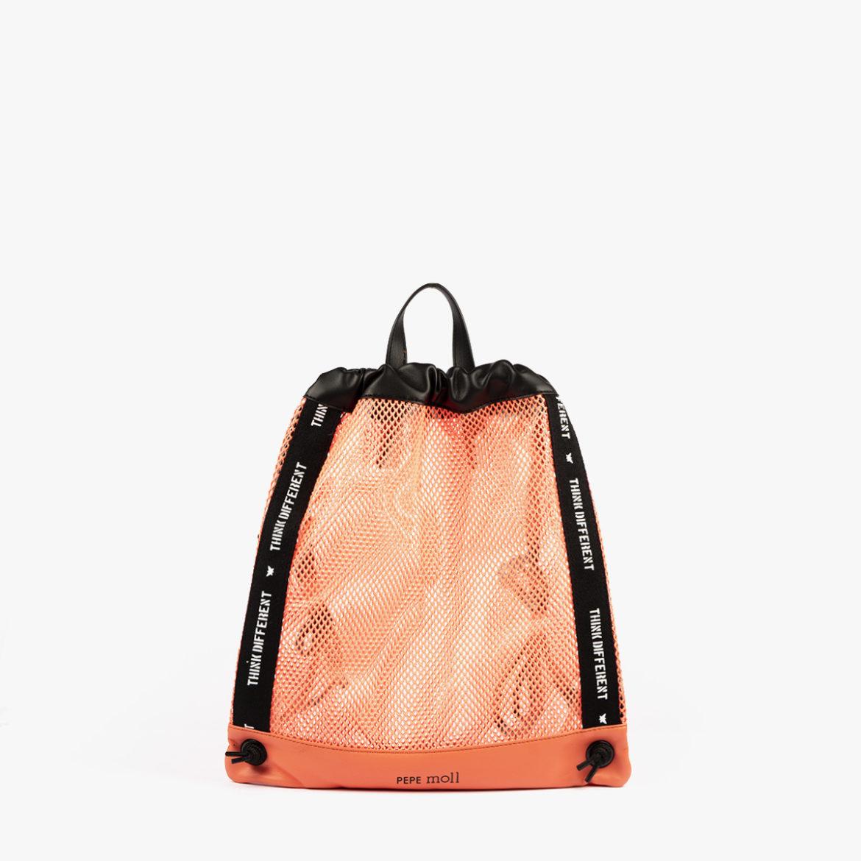 bolso mochila de malla coral pepemoll 51151