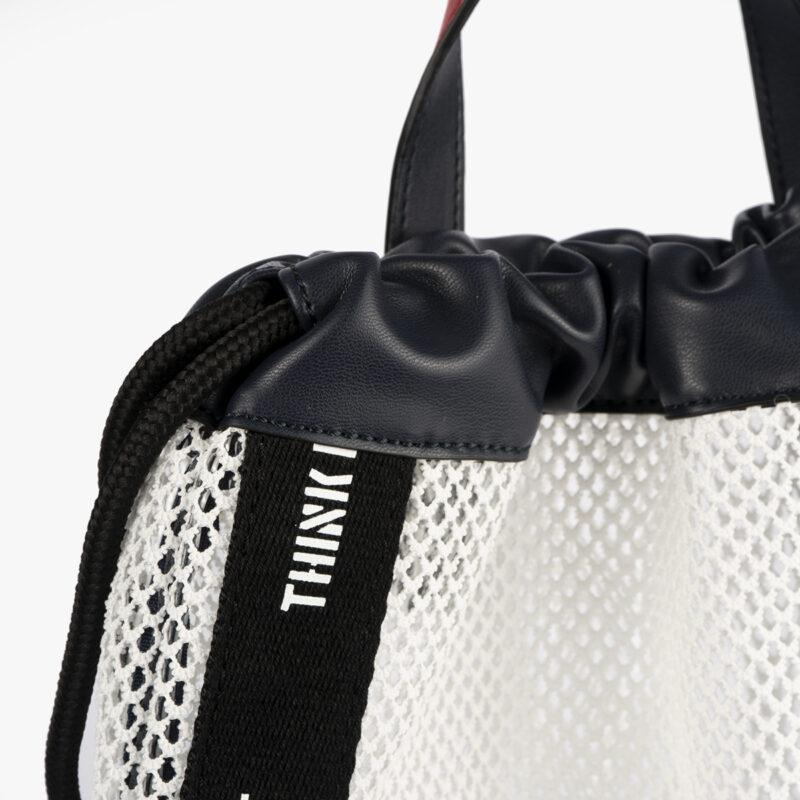 bolso mochila de malla blanco pepemoll 51151 detalle