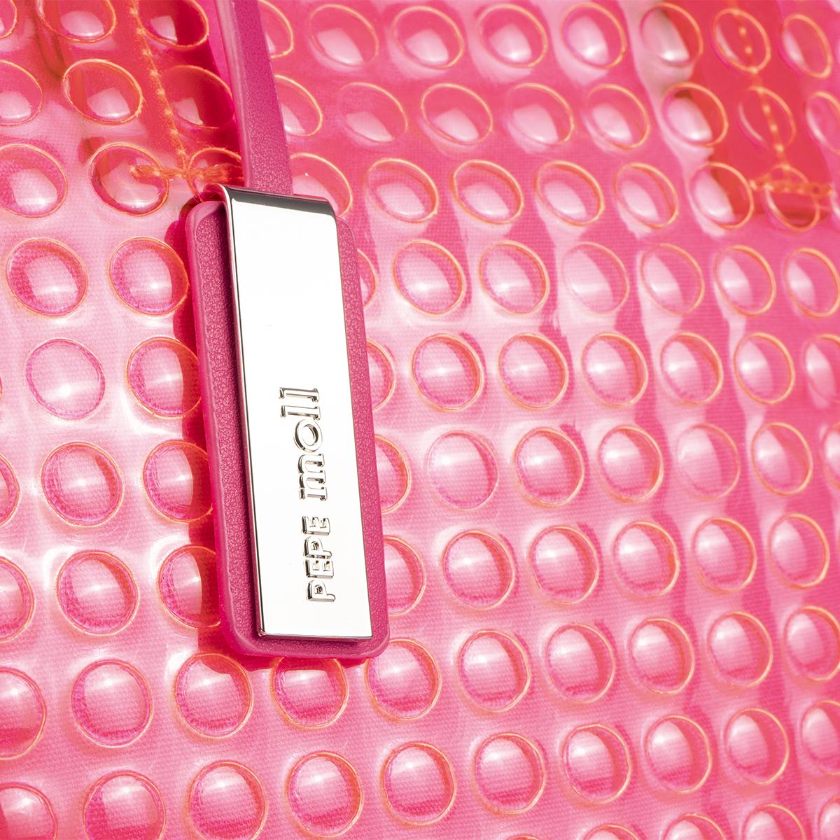 bolso de mano estilo bubble en color fuxia pepemoll 55048