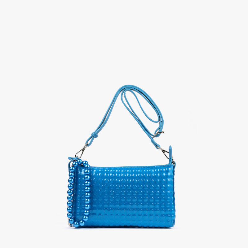 bolso bandolera estilo bubble azul 55049 frontal