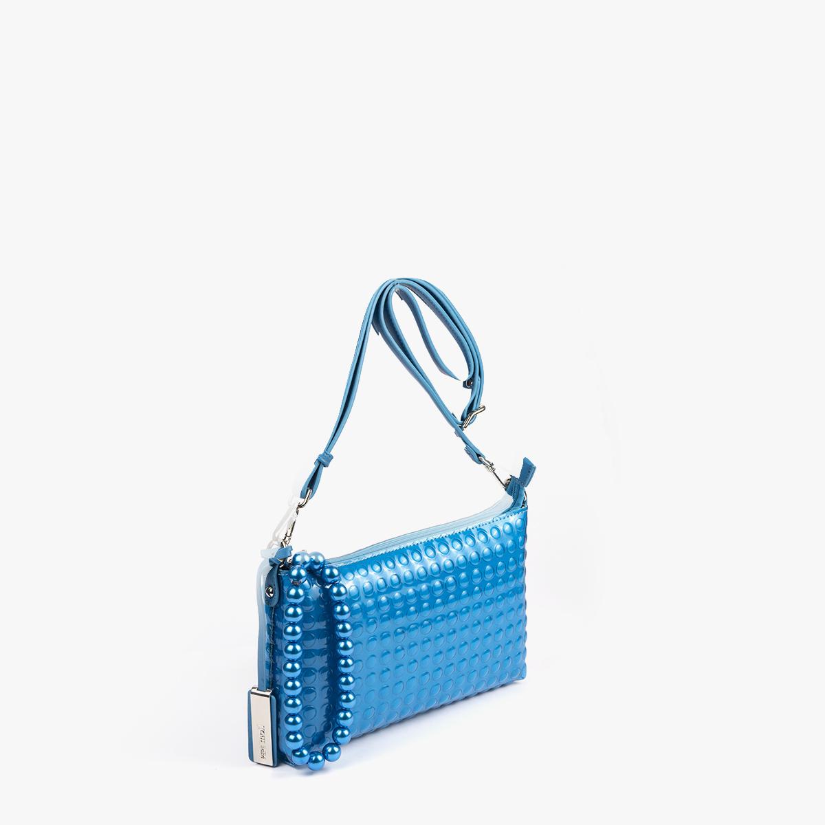 bolso bandolera estilo bubble azul 55049