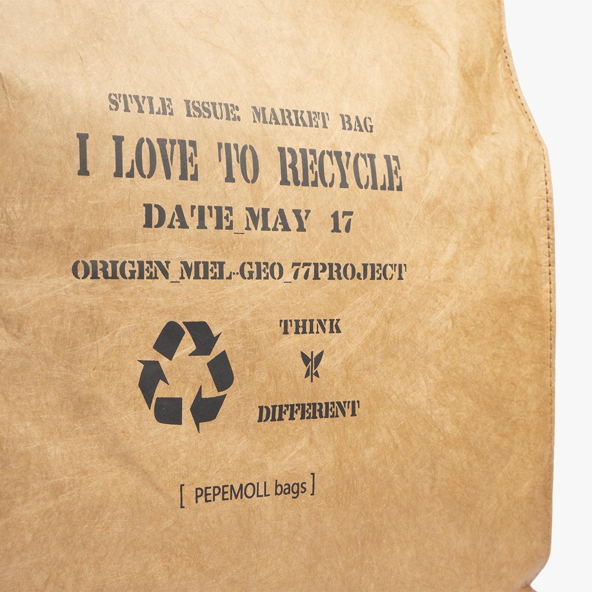 bolso de mano de papel marron pepemoll 57050
