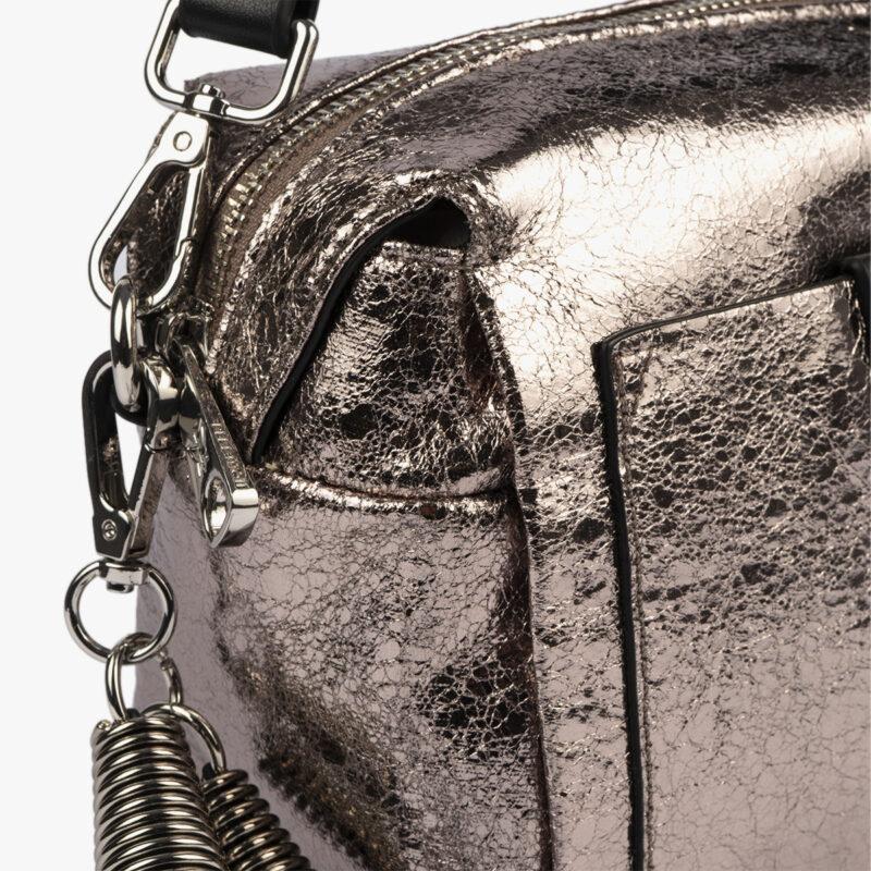 bolso de hombro pewter negro pepemoll 60052 detalle