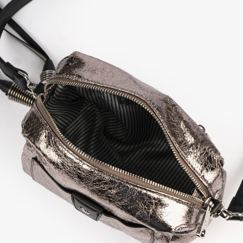 bolso bandolera pewter negro pepemoll 60054 interior