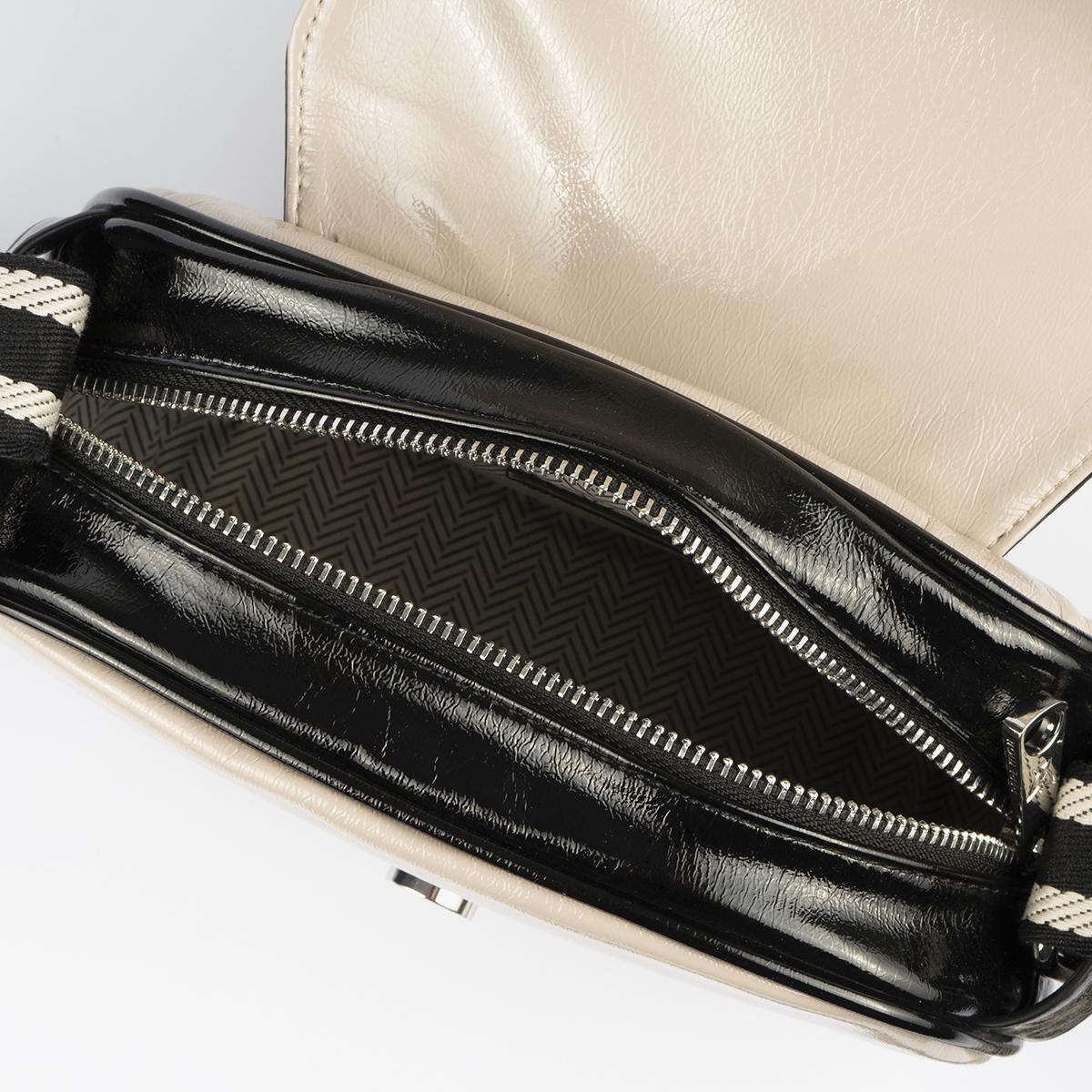 bolso badolera blanco y negro 45118 interior