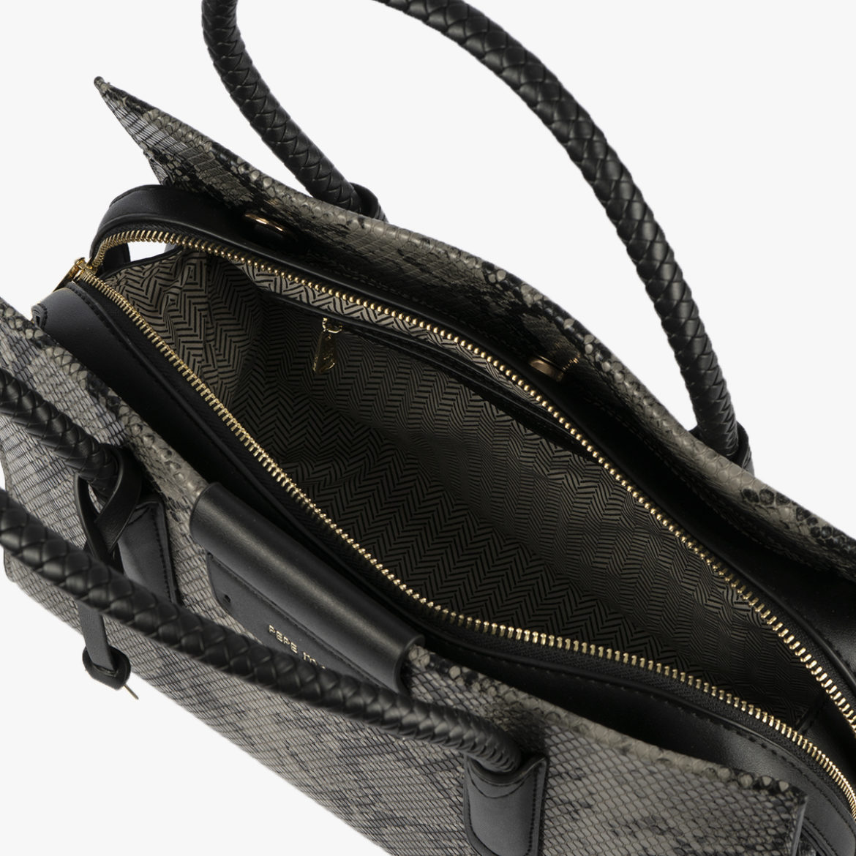 bolso de mano animal print gris 22125 interior