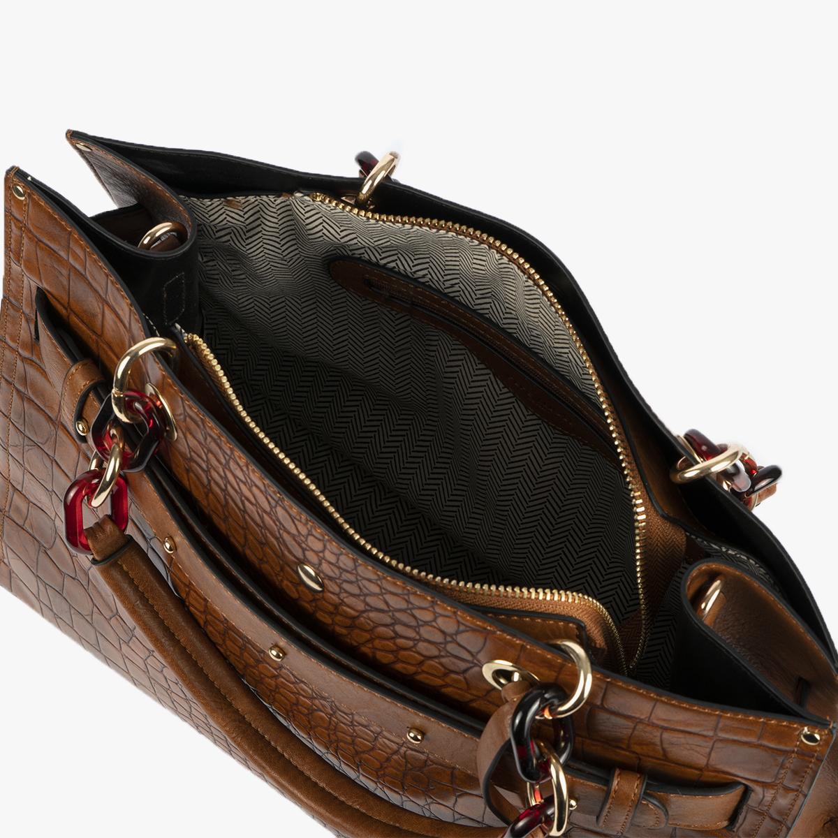 bolso de hombro marrón 34127