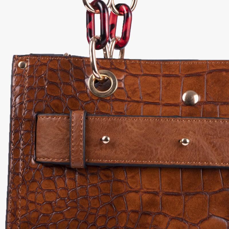 bolso de mano marrón 34128 detalle