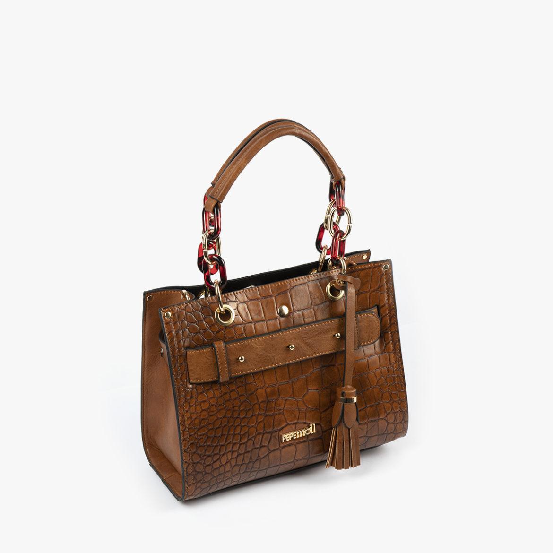 bolso de mano marrón 34128 perfil