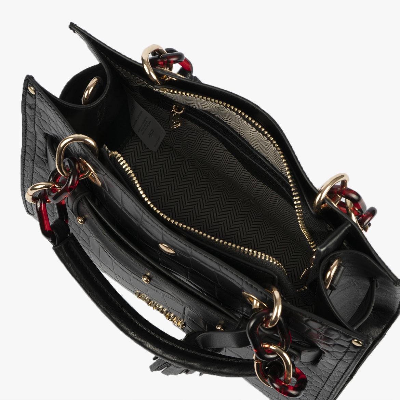 bolso de mano negro 34128 interior