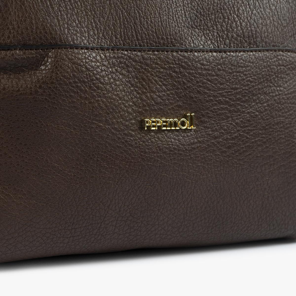 bolso de hombro marrón 41121 detalle