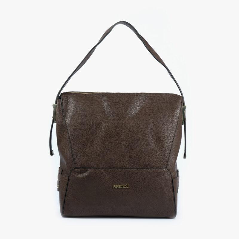 bolso de hombro marrón 41121 frontal