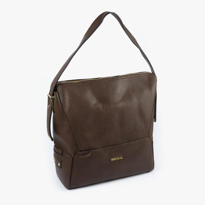 bolso de hombro marrón 41121 perfil