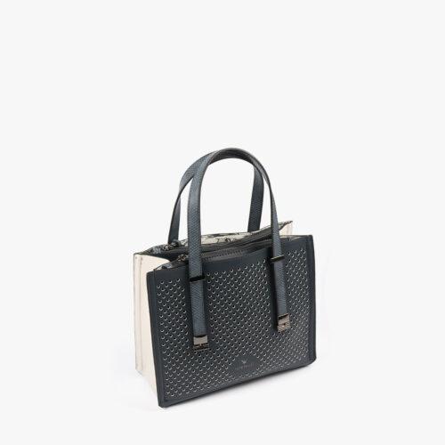 15128 cuir white boa black-3