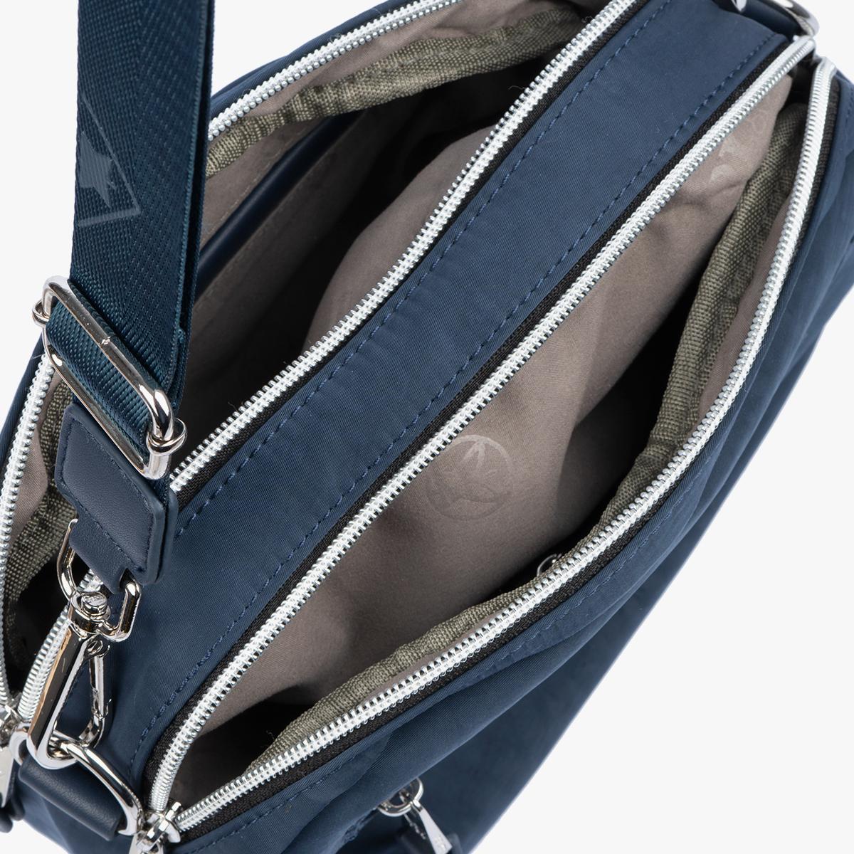 Bolso Bandolera azul 18215 bolsillo
